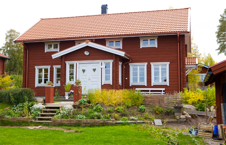 nybyggt hus i gammal stil