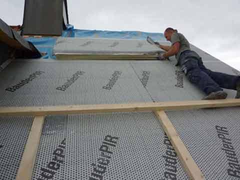 isolera tak utifrån med cellplast