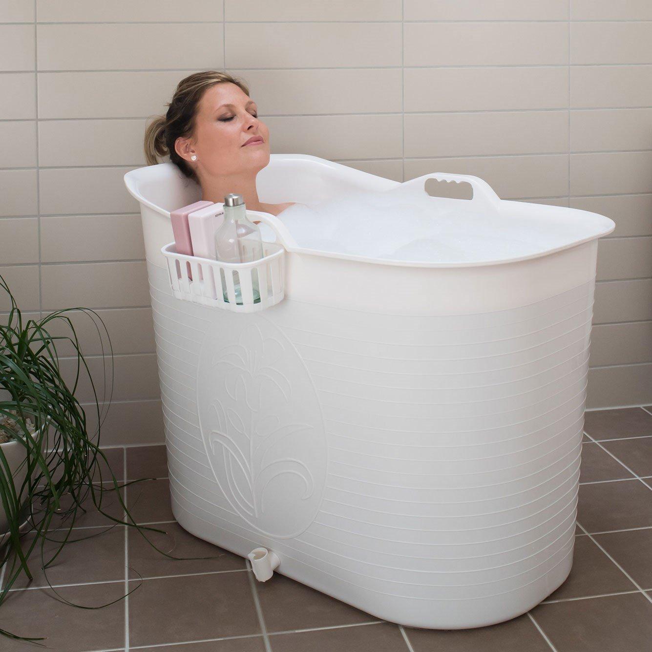hur många liter rymmer ett badkar