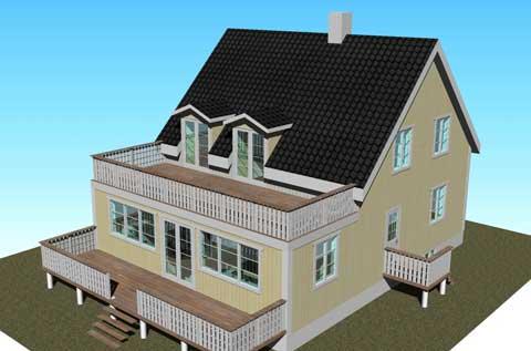 Bygga på en våning på huset