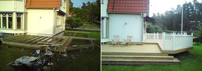 Kostnad bygga altan eller trädäck - Byggahus.se