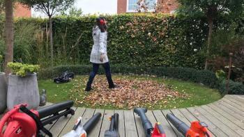Lövblås test och kretsloppsanpassad metod för att samla löv