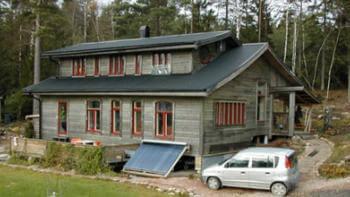 Byggde hus av halm och lera