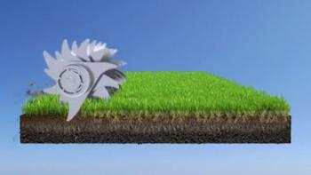 Vertikalskärare för grönare gräsmatta
