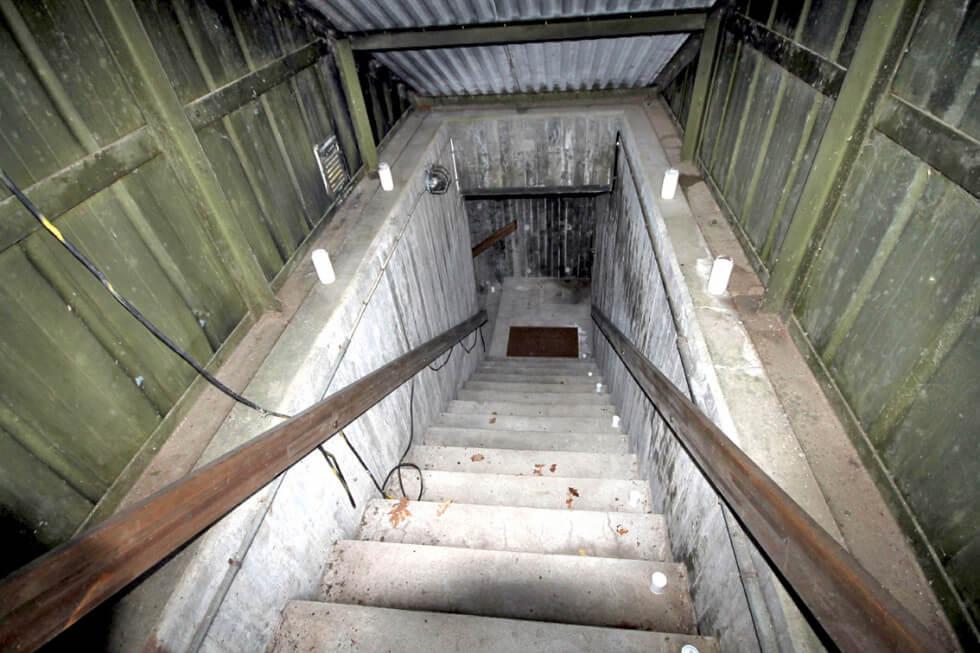 Nedgång till bunkern