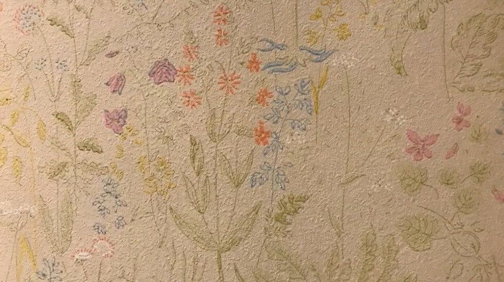 Blommig tapet från 40-talet