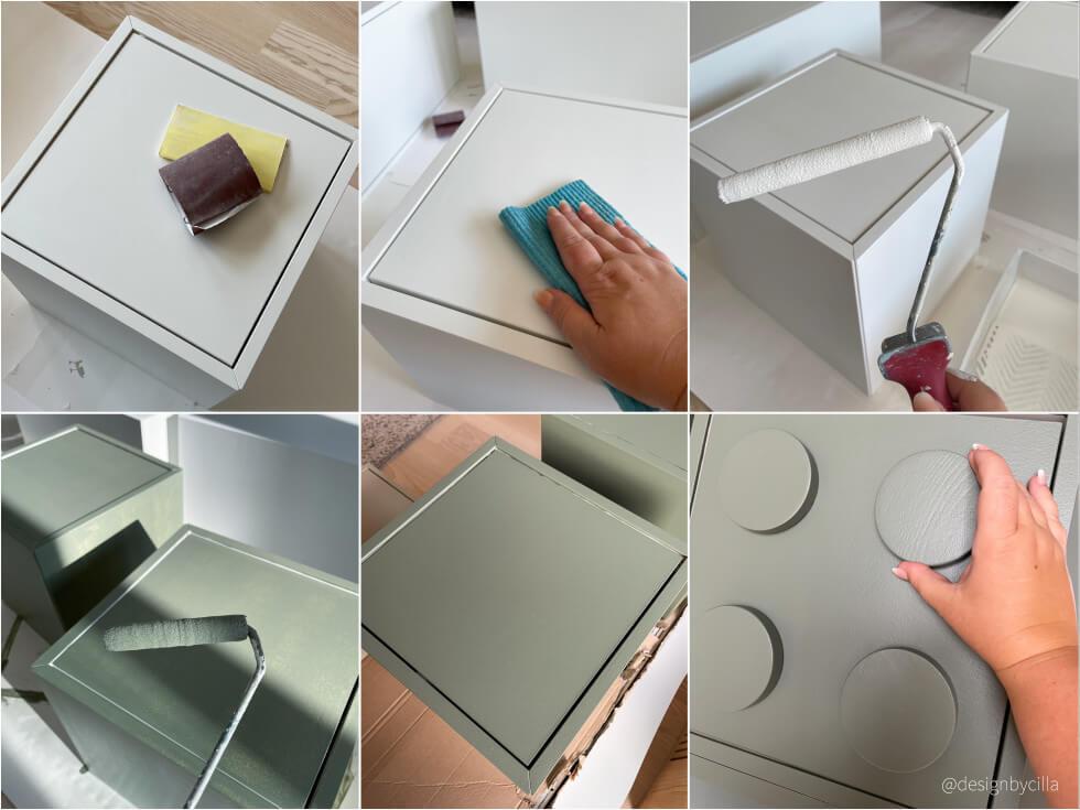 Måla möbel