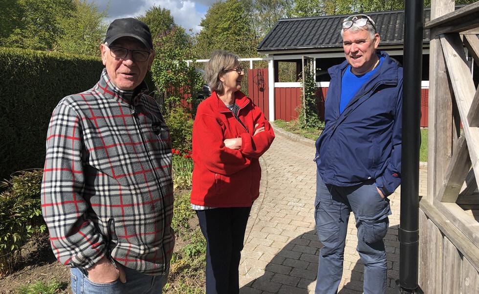 Bengt, Lena och entreprenören Gunnar Tjernberg.