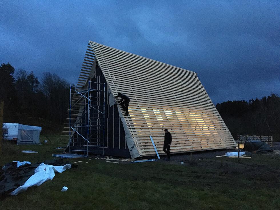 A-hus med ovanlig utformning