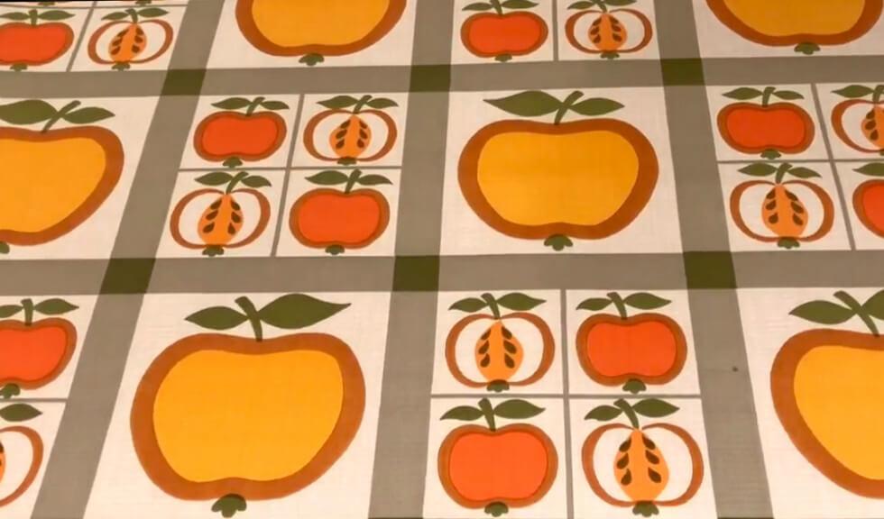 Tapet med äpplen