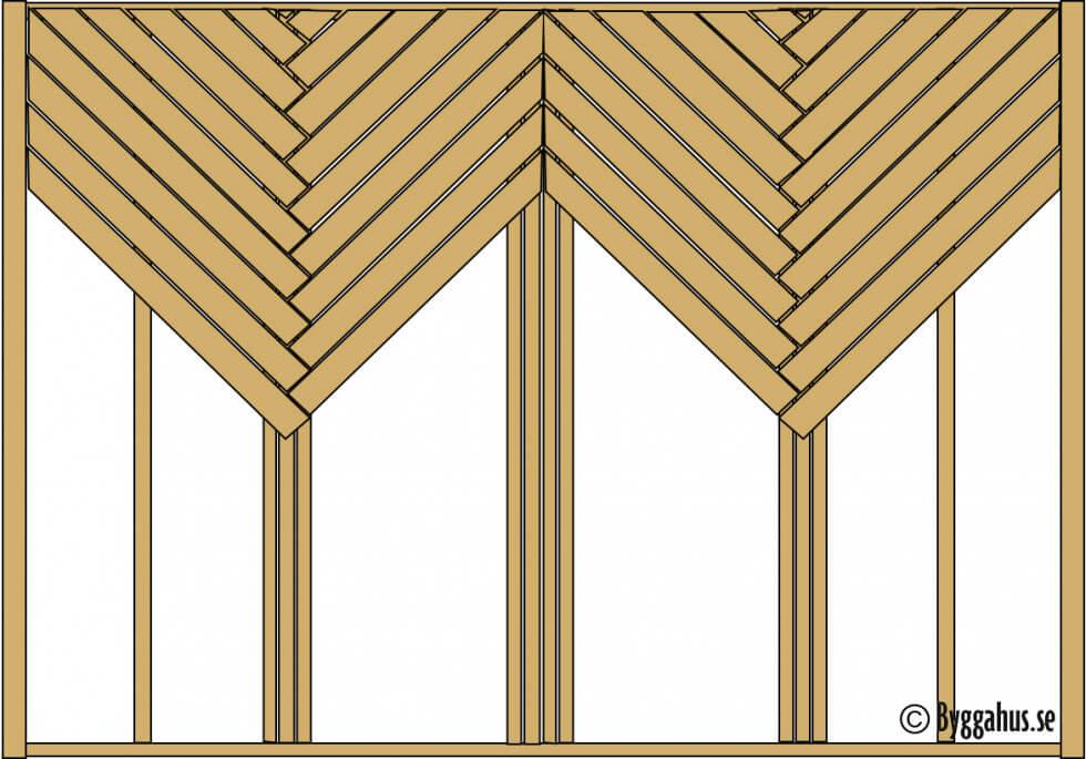 Trall i parkettmönster eller korgmönster