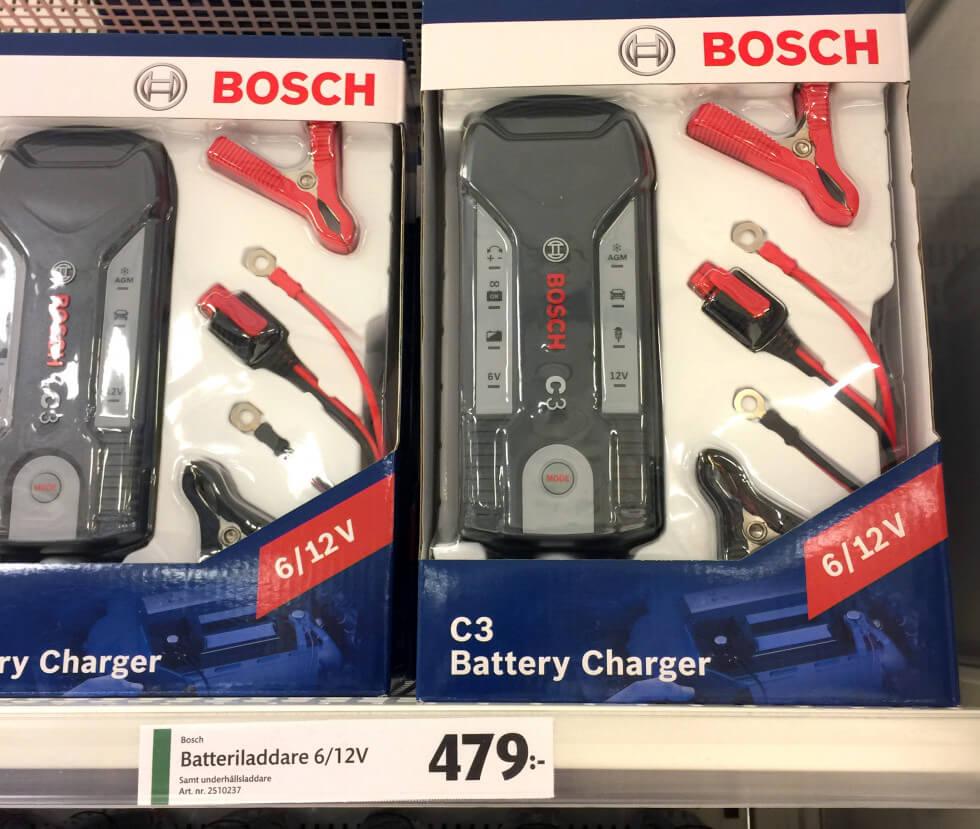Bosch batteriladdare C3