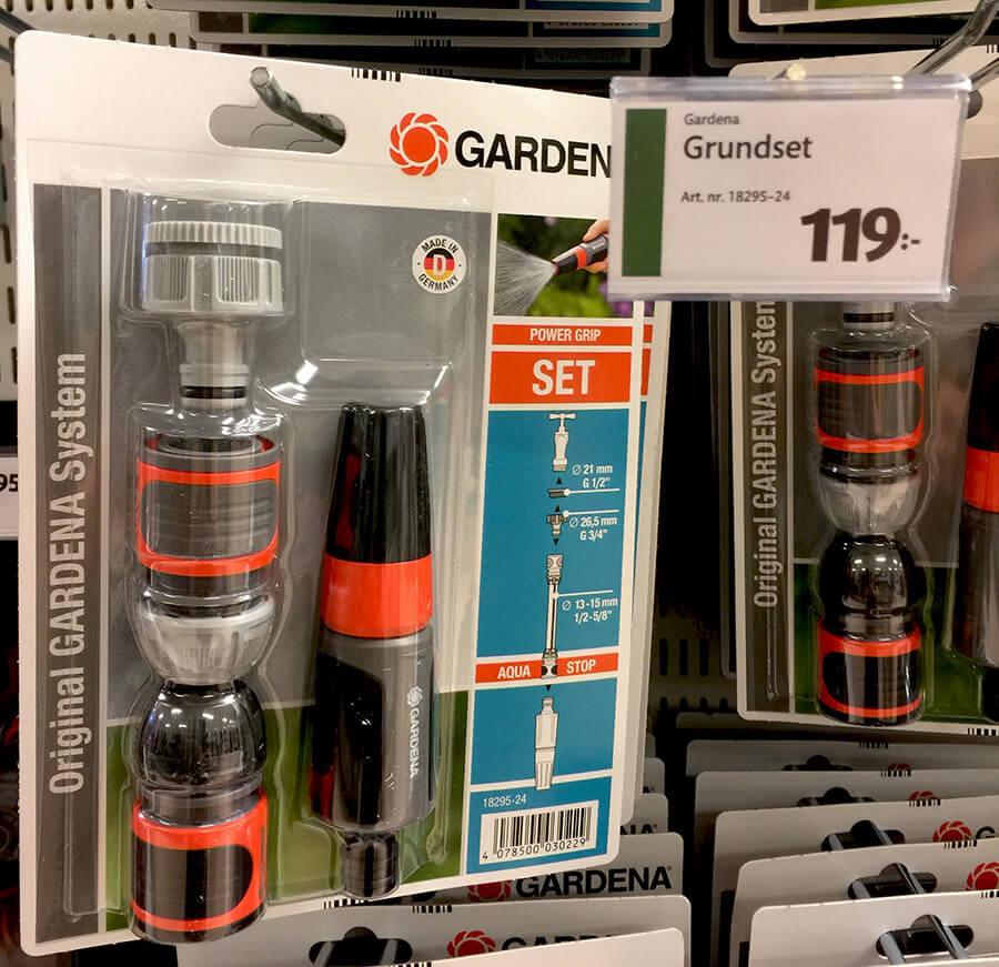 Gardena grundset bevattning