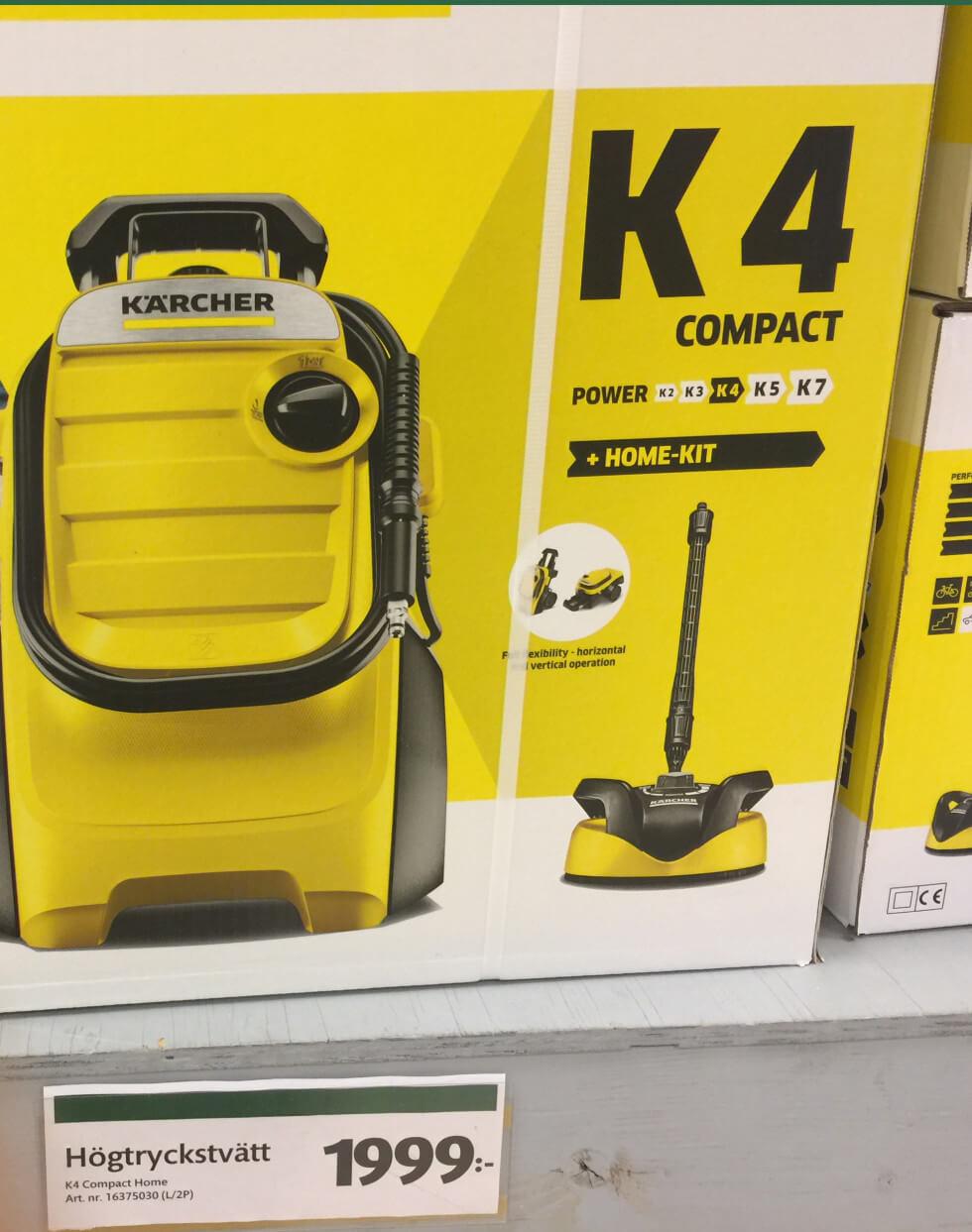 Kärcher K4 Compact högtryckstvätt