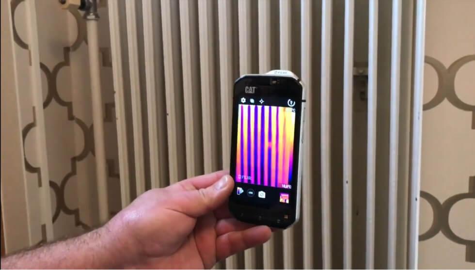 Kolla värmeflödet i mobilen