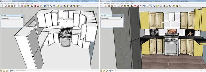 Få en bild av hur ditt nya kök kommer att se ut genom att rita upp det i ett ritprogram.