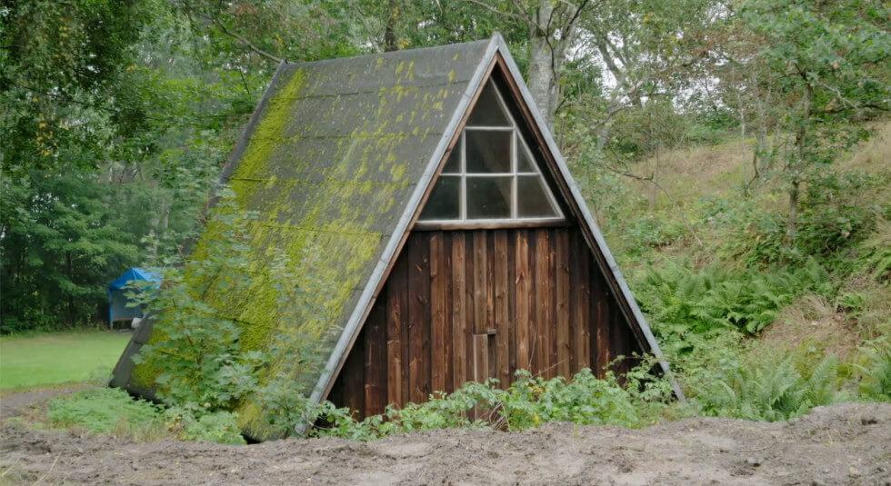 Litet hus i A-frame