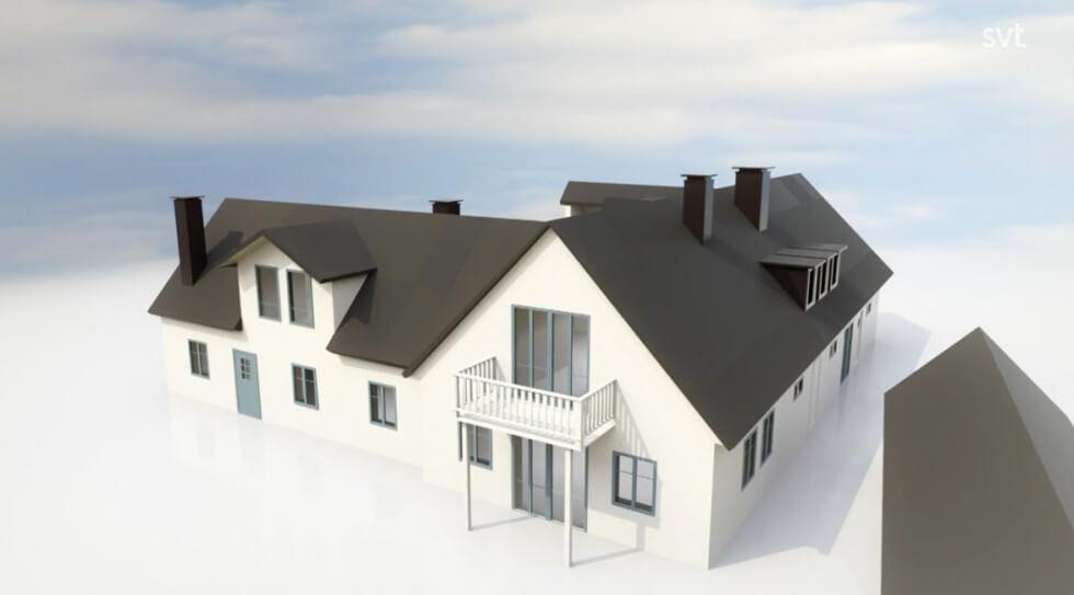 Modell av huset i Abbekås