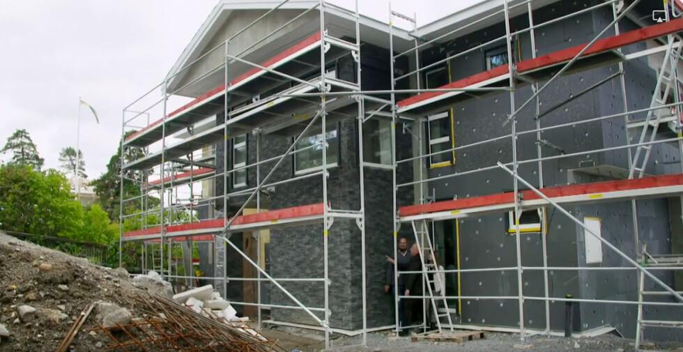 Bygget pågår