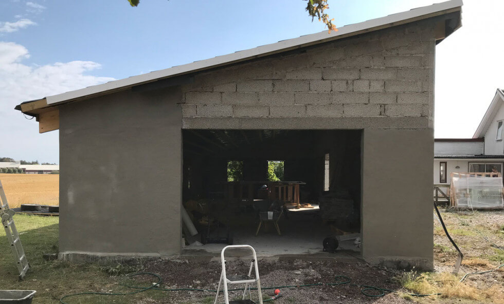 Garage i lecablock