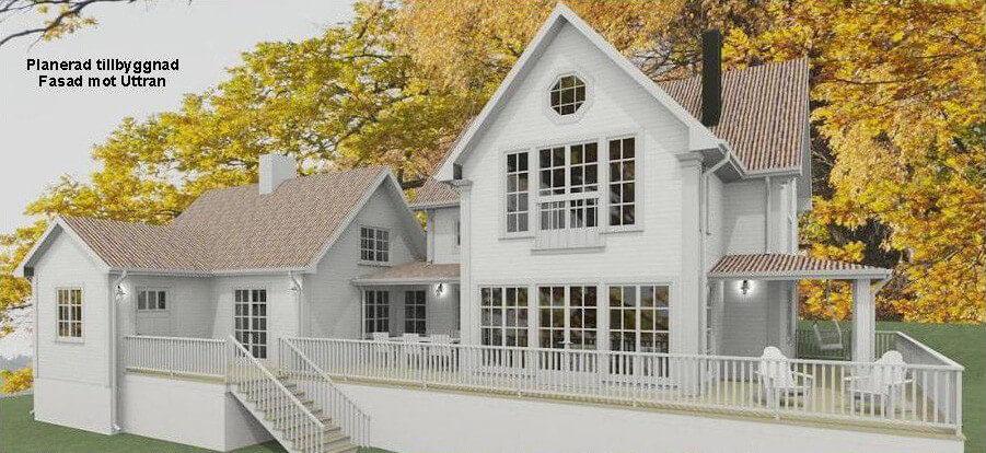 Hus efter tillbyggnad