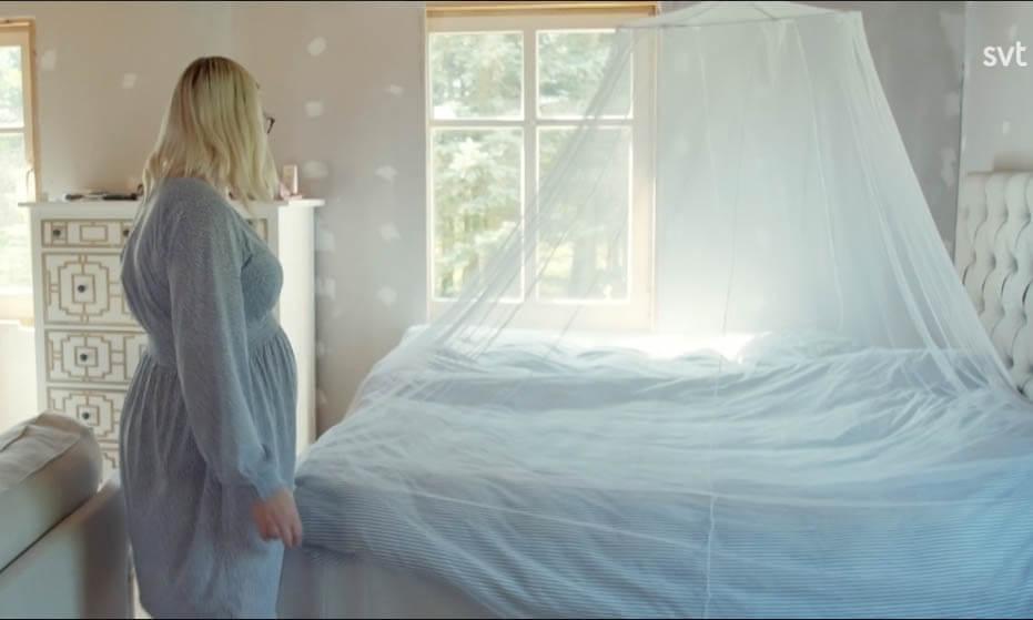 Myggnät i sovrummet