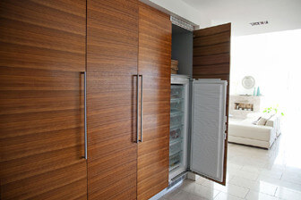 Feng shui med integrerat kylskåp