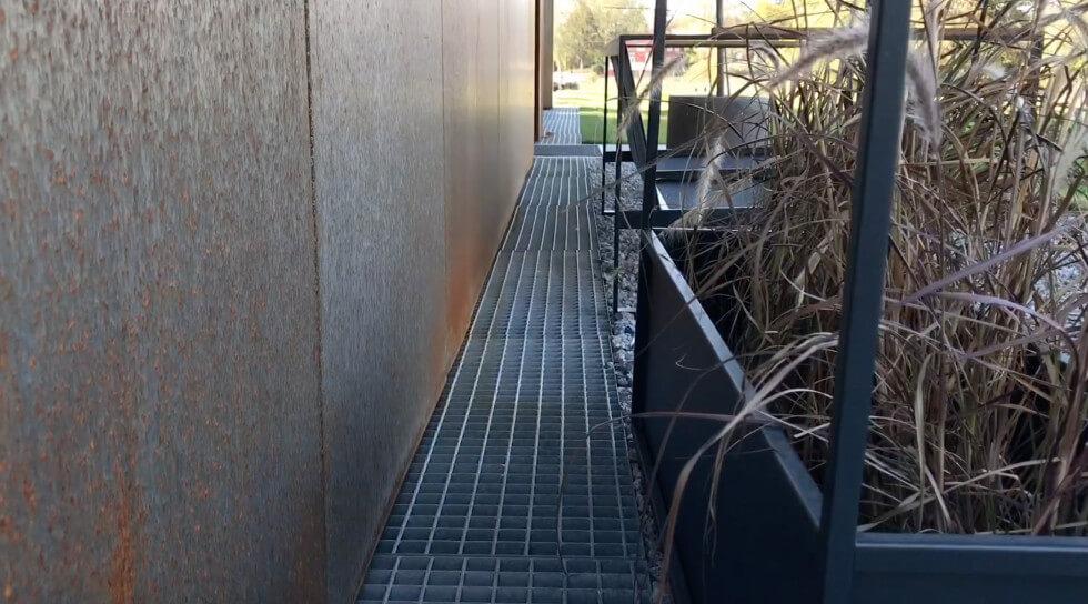 Galler för vattenavrinning.