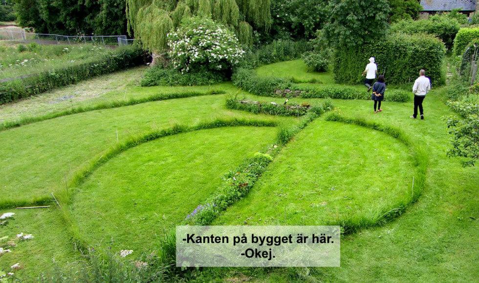 Ritning i gräset