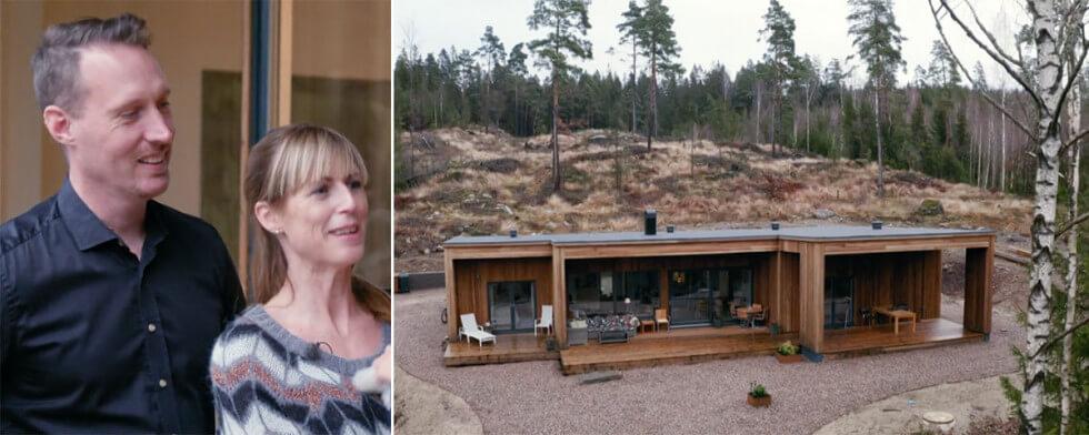 Morgan och Linda byggde ett Case Study-inspirerat hus i Hällingsjö.