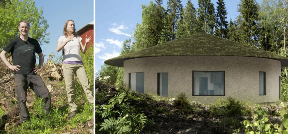 Hus av lera och halm