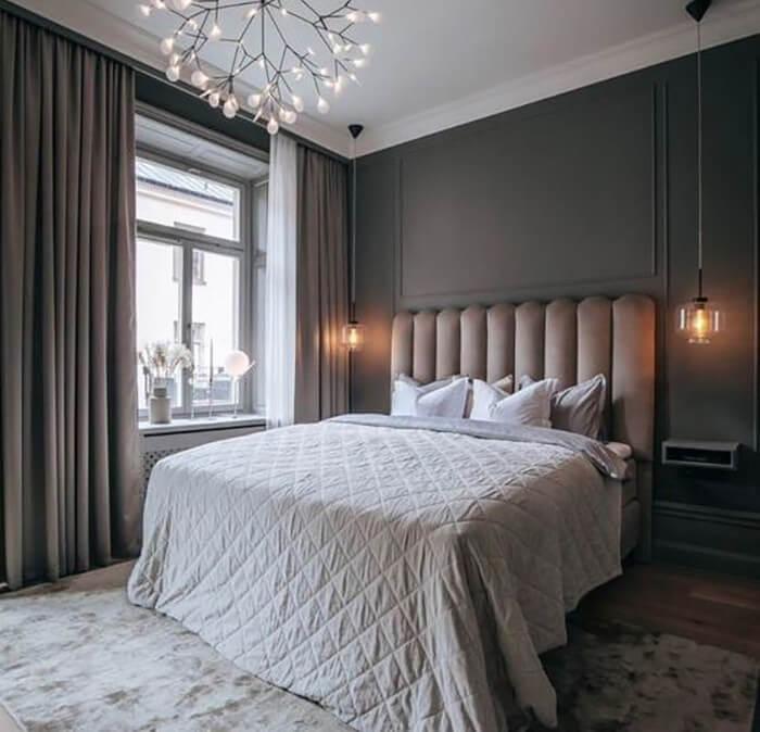 heltäckningsmatta i sovrum