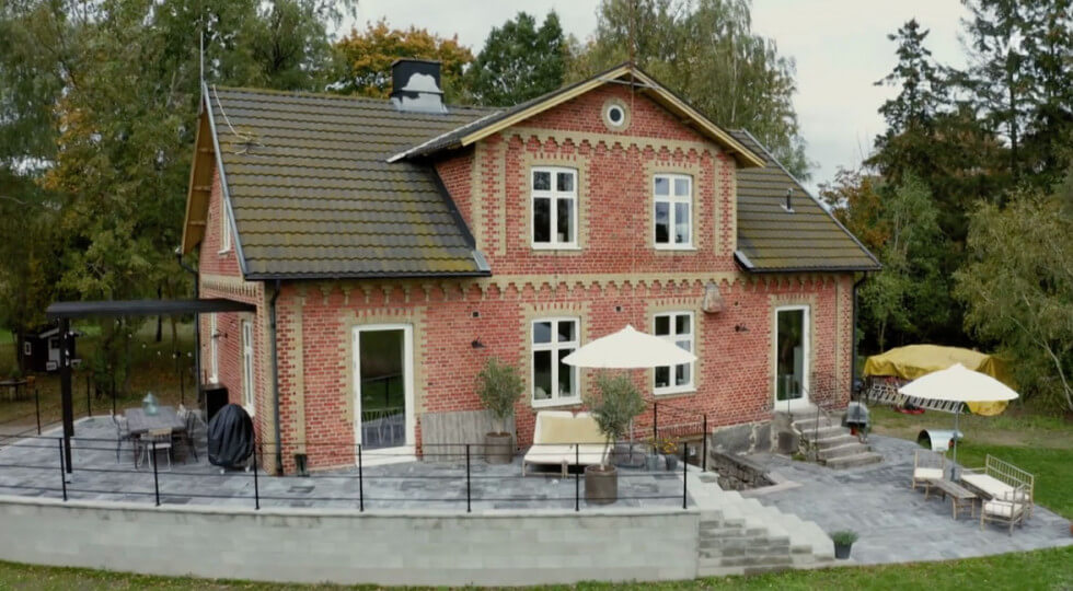Huses baksida