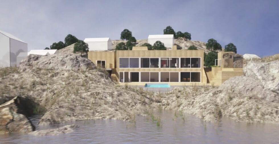Modell av huset