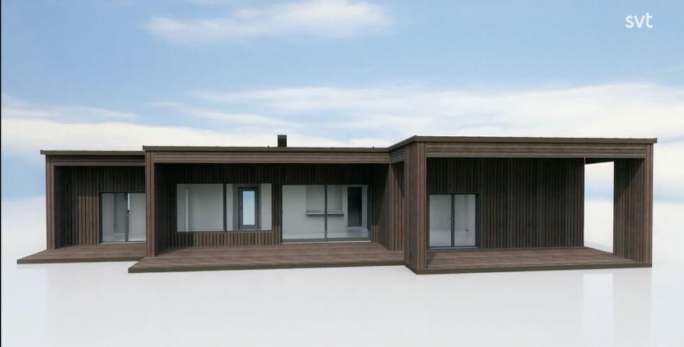En modell av deras hus