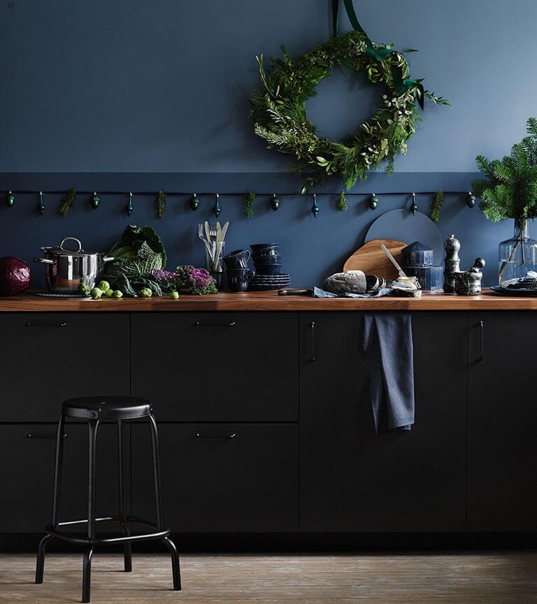 Blått kök Ikea Kungsbacka