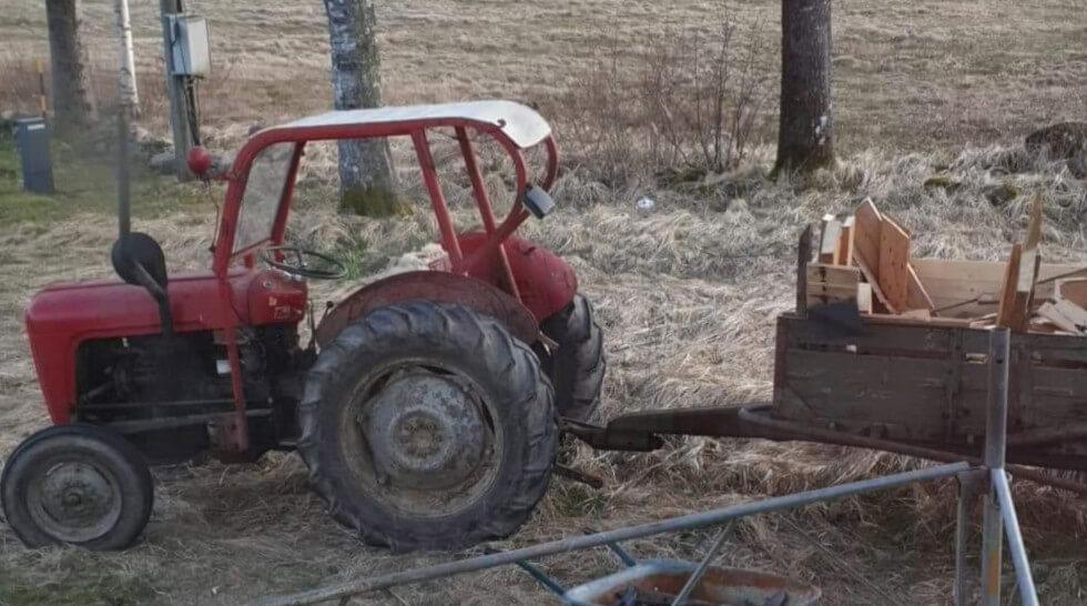 Jerry lånade traktor