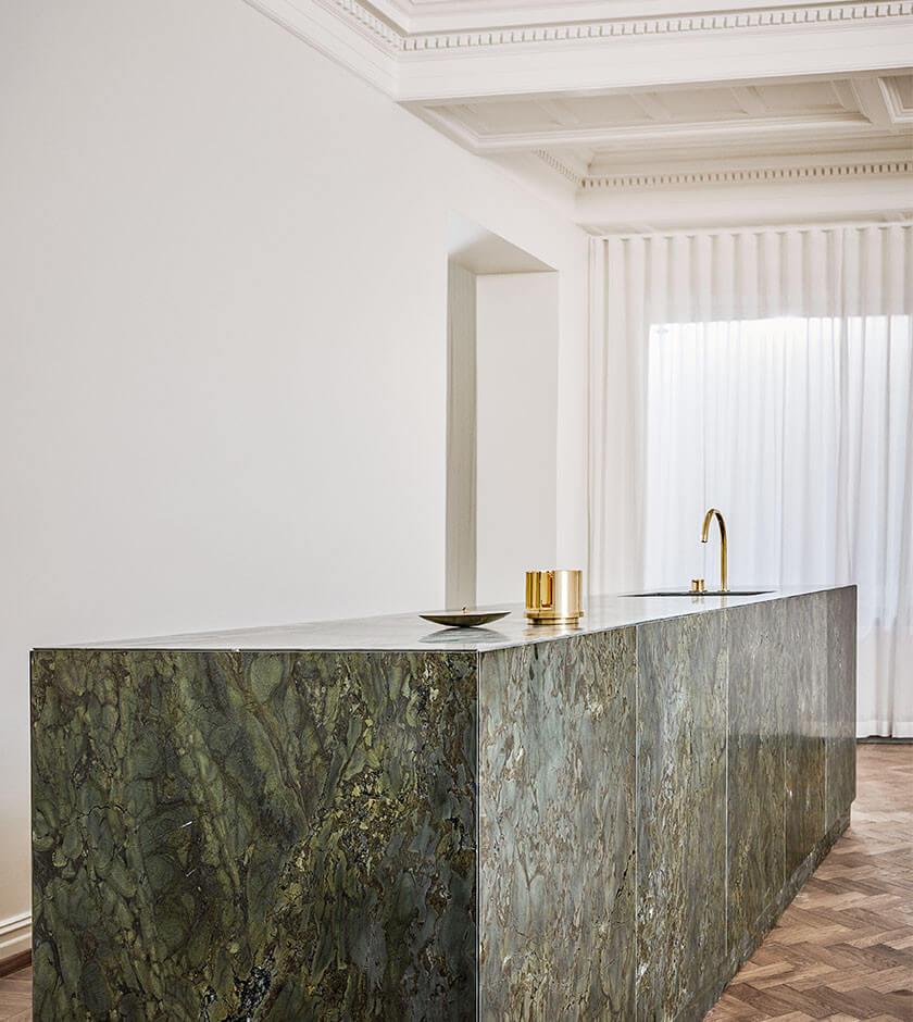 Grön marmor
