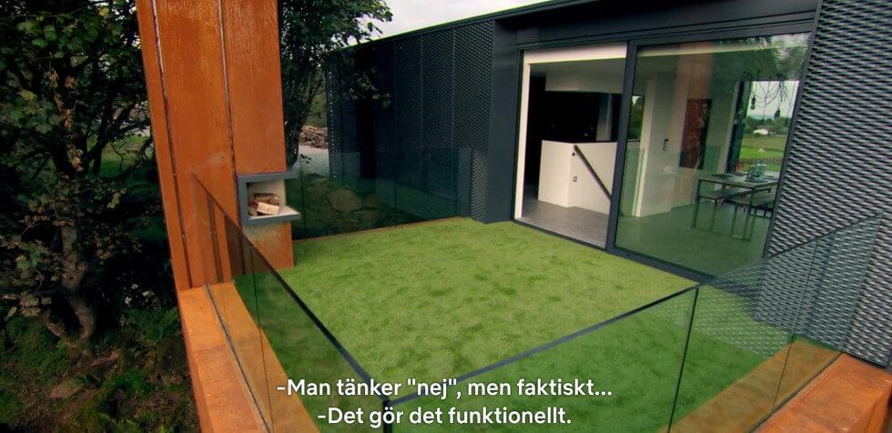 Konstgräs på terrassen