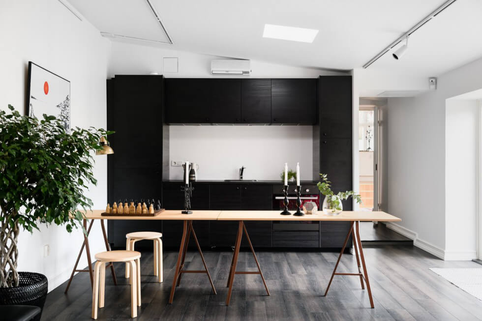 Svart kök i Limhamn