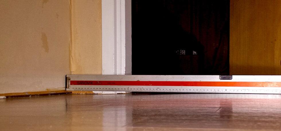 Ojämnt golv