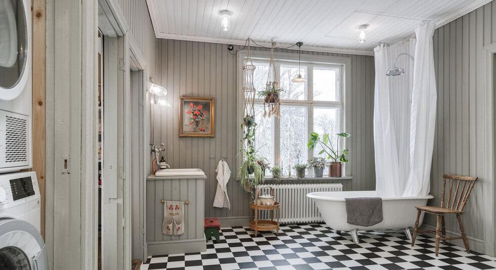 Byggnadsvårdat badrum