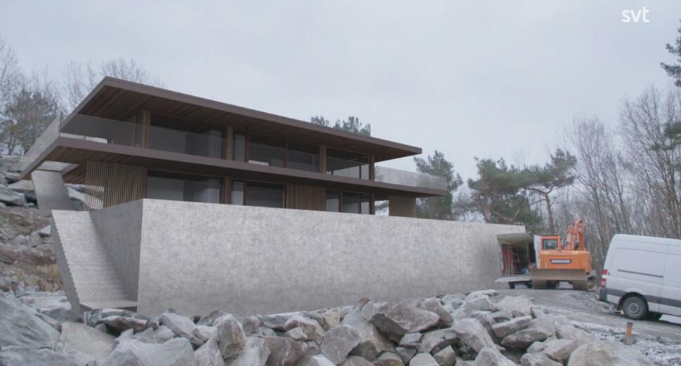 Modell av deras hus