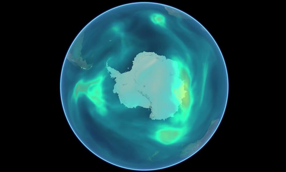 Ozon över antarktis