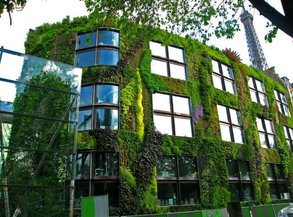 Växtvägg i Paris
