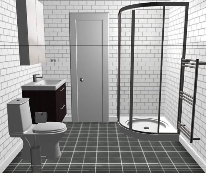 Planlösning badrum