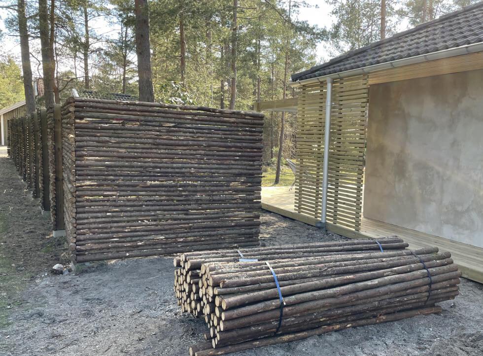 Plank av träribbor