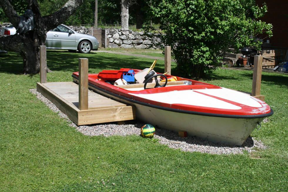 Sandlåda av båt