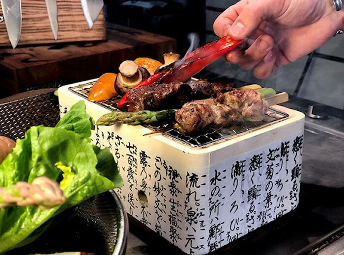 Satake Hibachi bordsgrill