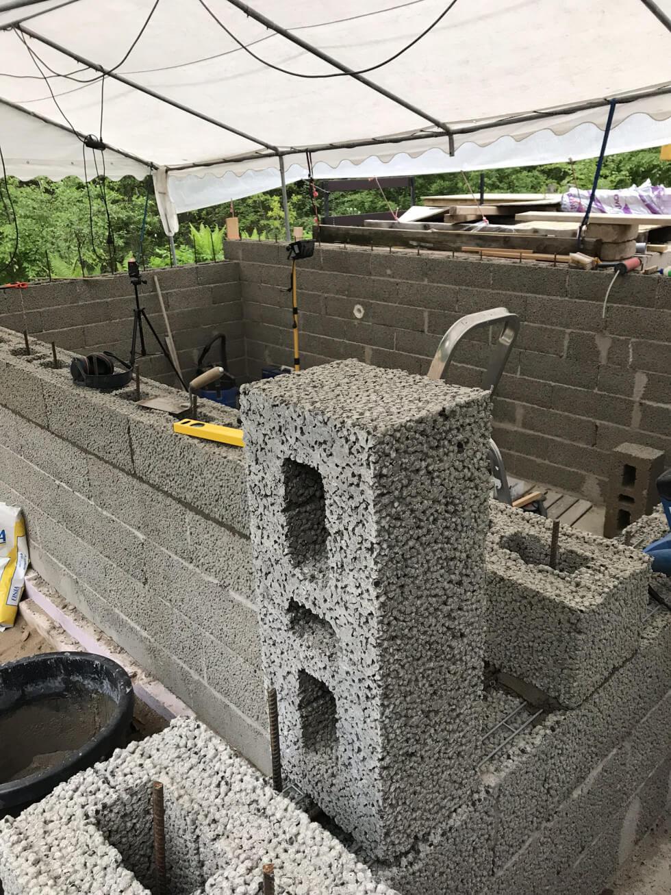 Sista raden betong